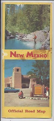 1958 New Mexico State Official Road Map