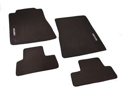 2011-2014 Ford Mustang Black 4pc Floor Mats with Roush Logo Facing Doors 421118
