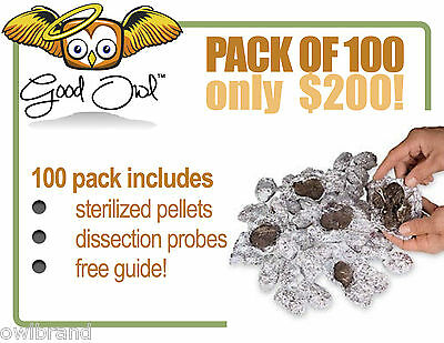 Sterilized Barn Owl Pellets - 100 Pack