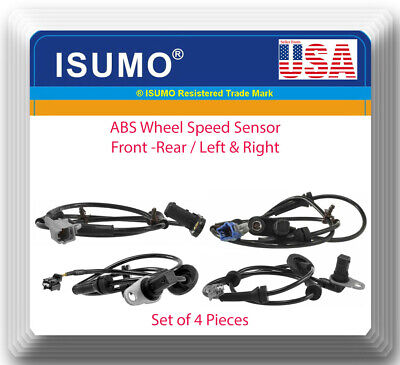 Set 4 Front & Rear L&R ABS Wheel Speed Sensor For Nissan Maxima 3.5L 2004 -2008