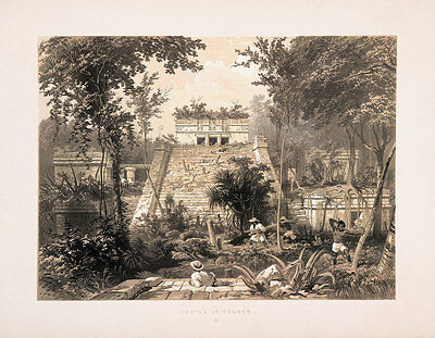"""Frederick Catherwood : """"Castle at Tuloom"""" (1844) — Giclee Fine Art Print"""