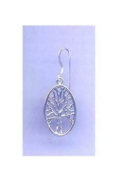 """Oval Tree of Life  Earrings  7/8"""" ~Sterling Silver   Made in the USA!!"""