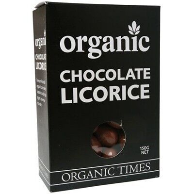 ORGANIC TIMES Organic Milk Chocolate Licorice 150g