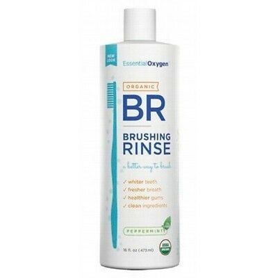 ESSENTIAL OXYGEN Peppermint Brushing Rinse Toothpaste/Mouthwash 473ml