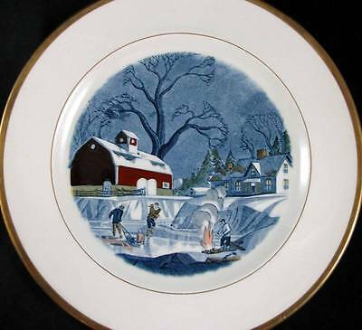 """Adams THE RED BARN Collectible Plate """"February"""" Vintage Pattern GOOD CONDITION"""