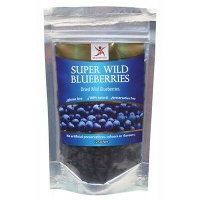 DR SUPERFOODS Super Wild Blueberries 125 - Dried - #U680569373328