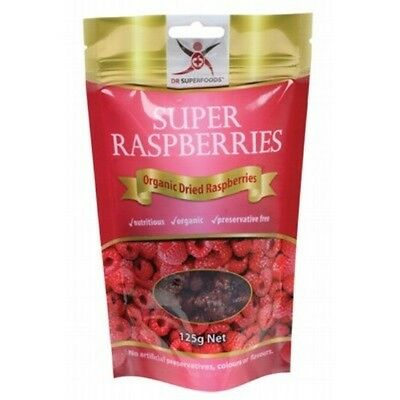 DR SUPERFOODS Super Rasberries 125g - Includes Dried Raspberries