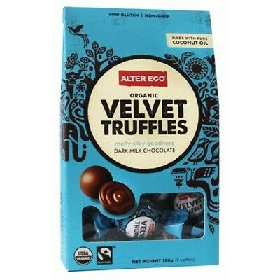 ALTER ECO Chocolate (Organic) Velvet Truffles - Dark Milk Chocolate 108g