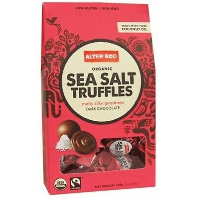 ALTER ECO Chocolate (Organic) Sea Salt Truffles - Dark Chocolate 108g