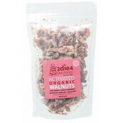 2DIE4 LIVE FOODS Activated Organic Walnuts - 120g