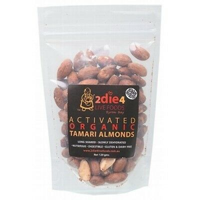 2DIE4 LIVE FOODS Activated Organic Tamari Almonds - 120g