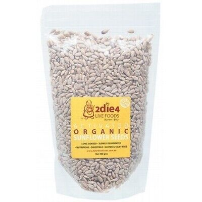 2DIE4 LIVE FOODS Activated Organic Sunflower Seeds - 300g