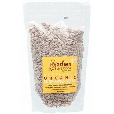 2DIE4 LIVE FOODS Activated Organic Sunflower Seeds - 200g