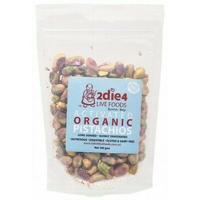 2DIE4 LIVE FOODS Activated Organic Pistachios - 100g