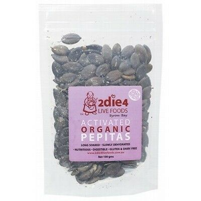 2DIE4 LIVE FOODS Activated Organic Pepitas - 100g