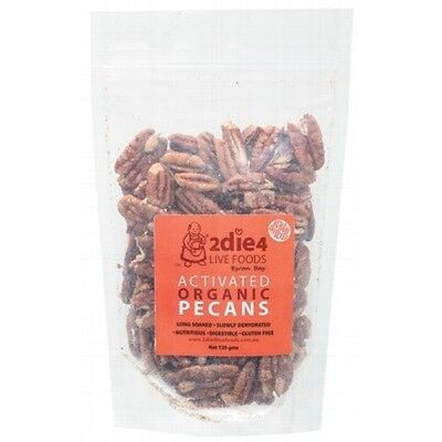 2DIE4 LIVE FOODS Activated Organic Pecans - 120g