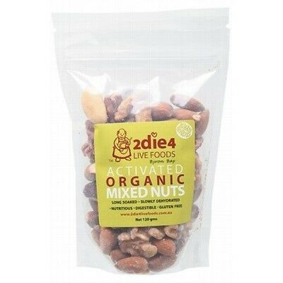 2DIE4 LIVE FOODS Activated Organic Mixed Nuts - 120g