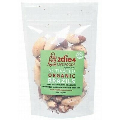 2DIE4 LIVE FOODS Activated Organic Brazil Nuts - 120g