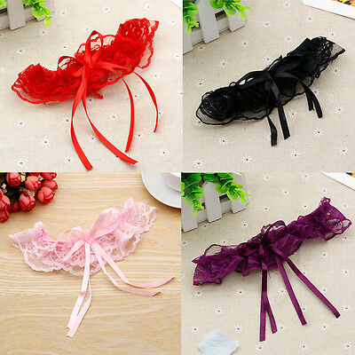 Lady Charm Cute Latest Bridal Wedding Garters Satin Bowknot Ruffle Party Cospaly