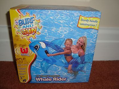 Large Inflatable Whale Rider With Handles Swimming Pool Beach Lido