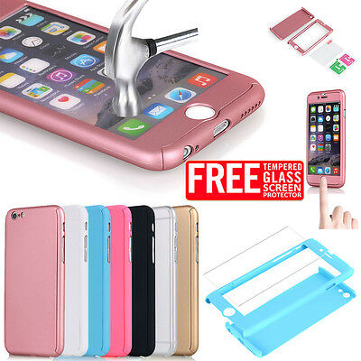 Ultra-thin Shockproof Matte Clear Full Body Case Cover fr iPhone X 7 8 Plus 6S 5