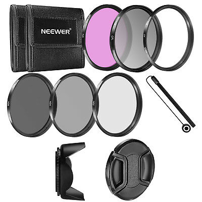 Neewer 52mm UV CPL FLD ND2 ND4 ND8 Filtro Kit para Nikon D5300 D5100 D7100 D7000