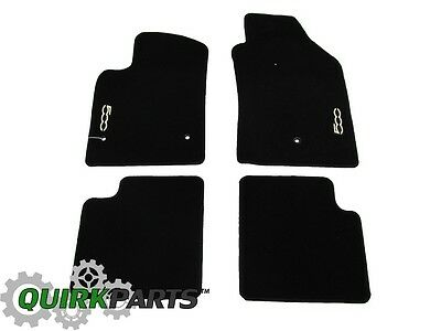 2012-2013 Fiat 500 Premium Front & Rear Carpet Floor Mats New Mopar Oem Genuine