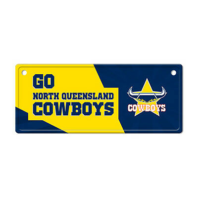 Official NRL North Queensland Cowboys Metal Tin Number Licence Plate Sign