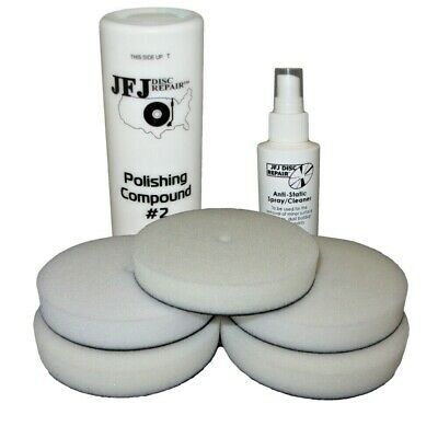 Jfj Easy Pro Supply Pack - 5 Pads / White Solution / Anti-Static Spray