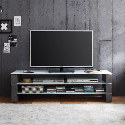 tv rack jule tv board lowboard unterschrank in wei matt lack und beton eur 399 95 picclick de. Black Bedroom Furniture Sets. Home Design Ideas