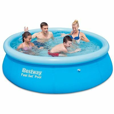 Bestway 12ft x 30in Fast Set Swimming Pool Garden Outdoor Summer Fun