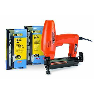 Tacwise 191ELS Electric Nailer Stapler 240v 1180 + Selection 91 Staple 180 Nail