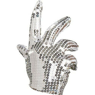 Adult's Michael Jackson Fancy Dress Party Costume Accessory Silver Sequin Glove