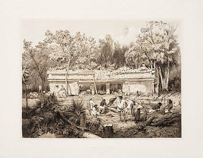 """Frederick Catherwood : """"Temple at Tuloom"""" (1844) — Giclee Fine Art Print"""