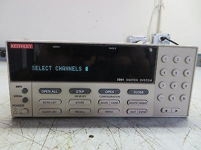 Keithley 7001 80 Channel Switch System Mainframe ID# 26108 (TEST C-3)
