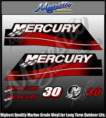 MERCURY - 30 hp - OUTBOARD DECAL SET