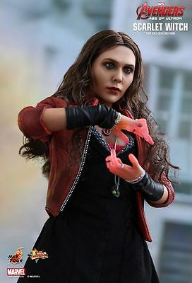 """Sideshow Hot Toys 1/6 12"""" MMS301 Scarlet Witch Avengers Age Of Ultron Figure"""