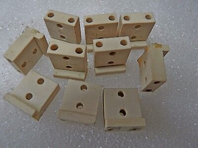 Ceramic bracket insulator  1.8 x 1.5 x .9 cms  Set of 10 pcs