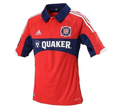 New Adidas Youth Mls Chicago Fire Home Soccer Jersey ~Youth  Xl~ #x13604