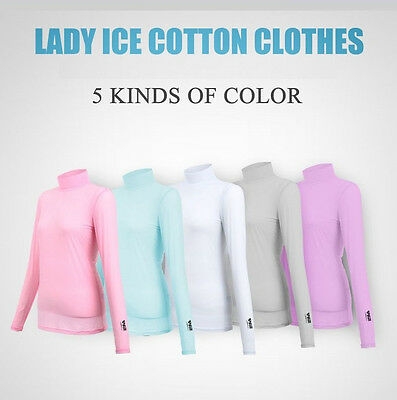 Ladies Womens Golf T Shirt Long Sleeve Sunscreen Breathable Stretchy F Outdoor