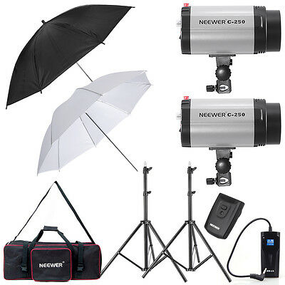 Neewer 500W Strobe Flash Light Umbrella Lighting Kit (250DI)