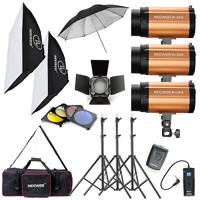 Neewer 900W Strobe Flash Lighting Kit for Portrait Photography ( 300SDI)