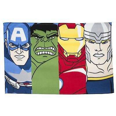 Marvel Avengers Lineup Fleece Blanket Kids Official New Free P+P
