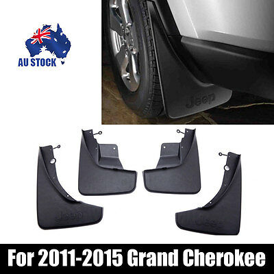 For 2011-2015 Jeep Grand Cherokee Front Rear Molded Splash Guards Mud Flaps 4PCS
