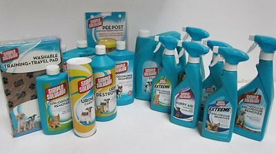 Simple Solution Stain and Odour Remover for Dogs/Cats Spray  Bottle Powder Pads