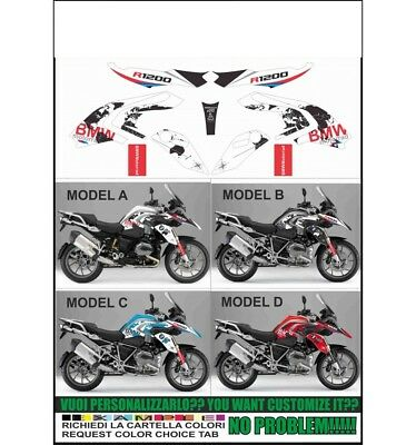 kit adesivi stickers compatibili r 1200 gs 2013 lc replica world