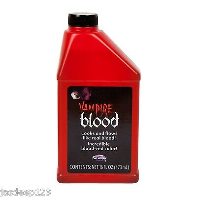 Pint of Fake Blood Horror Halloween Fancy Dress Make Up Theatrical Vampire Zombi