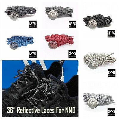"""36"""" 3M REFLECTIVE ROPE LACES FOR NMD Ultra Boost TUBULAR DOOM PRIMEKNIT R2 R1"""
