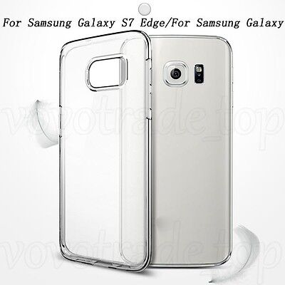 Newest Phone Case For Samsung Galaxy S7/S7 Edge Clear Rubber Soft TPU Case Cover