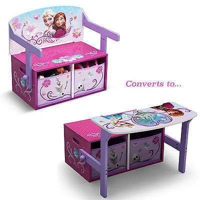 New Delta Children Disney Frozen 3In1 Convertible Bench / Desk / Toy Storage Box